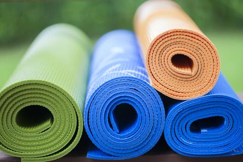 repurposing old yoga mats